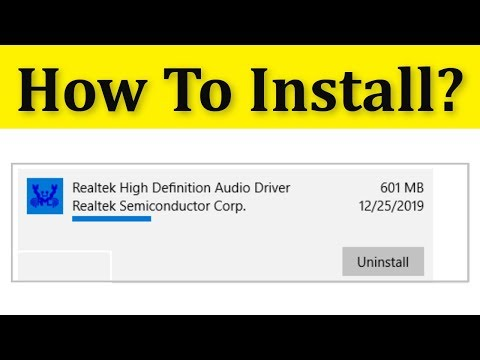 How To Install Realtek HD Audio Drivers In Windows 10/8/7
