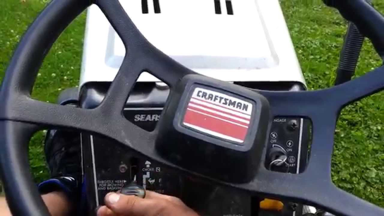 Old Sears 10 Hp Tractors : Old sears hp lawn tractor start and cut youtube