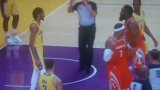 Rockets and Lakers brawl during game! Chris Paul and Rajon Rondo Fight!