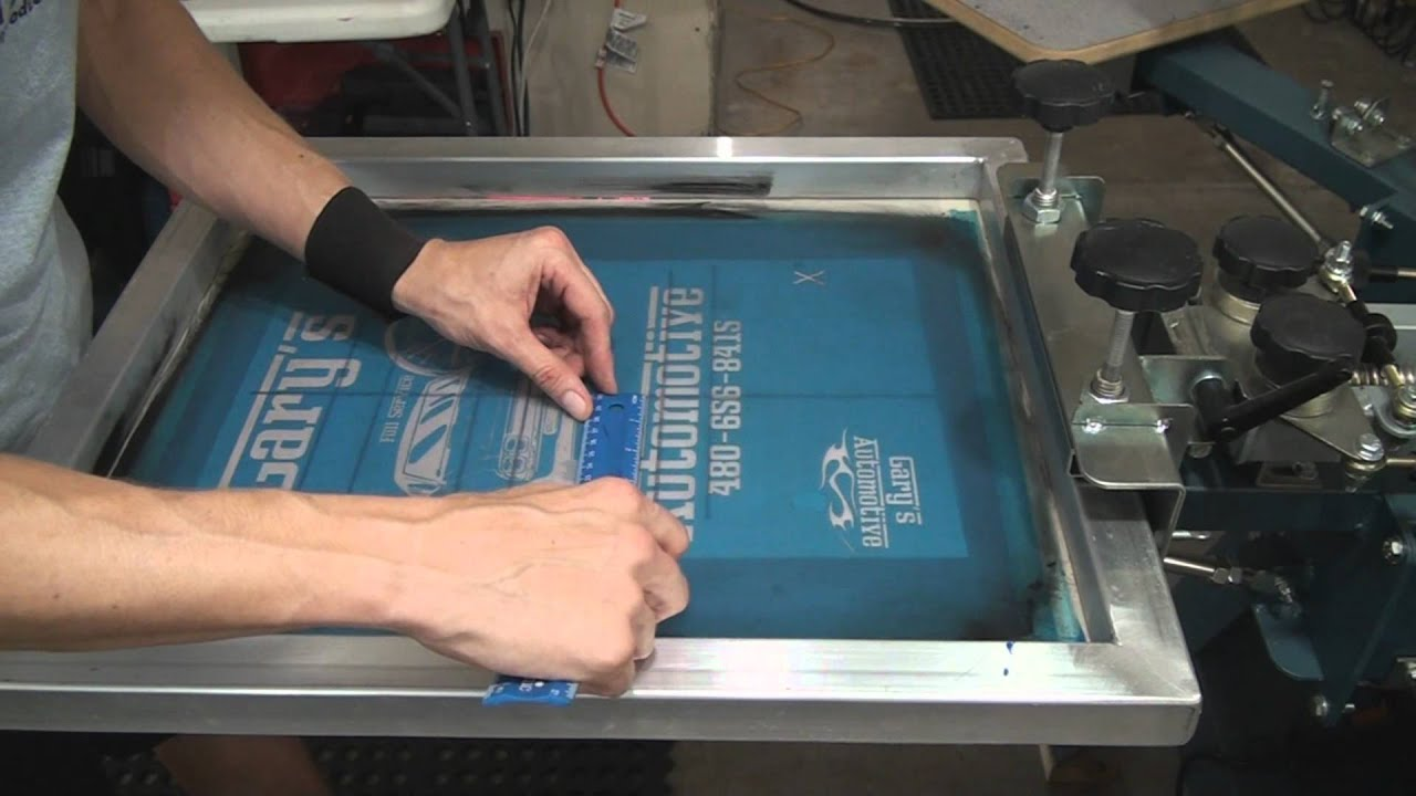 Screen Printing 2 Colors With Art Amp Press Set Up