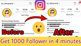 How to Increase INSTAGRAM Followers (2019)  1000 Followers In 2 Minut With Proof   Technical Booster