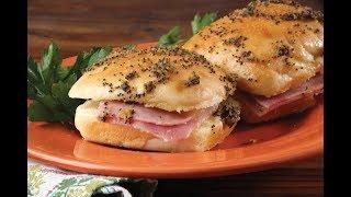 Baked Ham & Swiss Sandwich Rolls