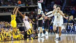 Gambar cover Michigan basketball: Trey Burke's 2013 shot against Kansas vs. Jordan Poole's buzzer-beater