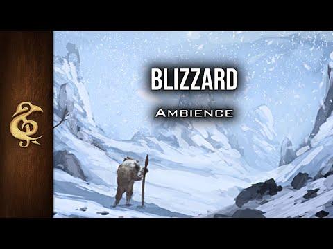 🎧 RPG / D&D Ambience - Blizzard | Snowstorm, Danger, Immersive, Realistic, Nature, Unforgiving Cold