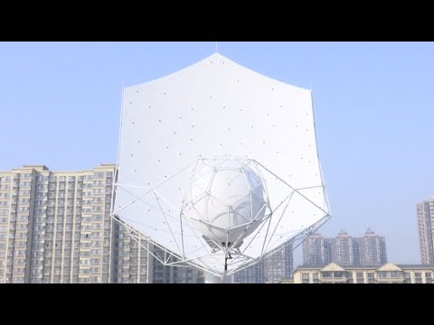 First Fully Assembled Dish for Square Kilometer Array Radio Telescope Unveiled in China