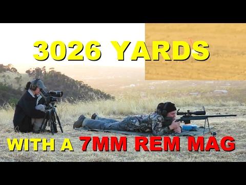 7mm Rem Mag @ 3026 yards