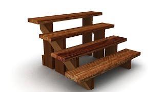 Деревянные ступеньки для лестницы .(Любая лестница состоит из ряда ступеней,но способы их изготовления весьма разнообразны , как и материалы..., 2016-07-28T07:16:26.000Z)