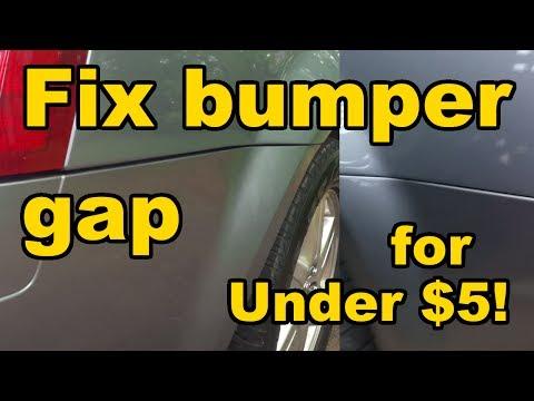 How to fix Chrysler 300 rear bumper gap/sag (for under $5)