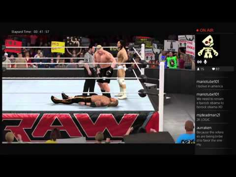 WWE 2K15 (Live on Twitch.TV): Bo Dallas BoLieves in the Rope Physics (Glitch)