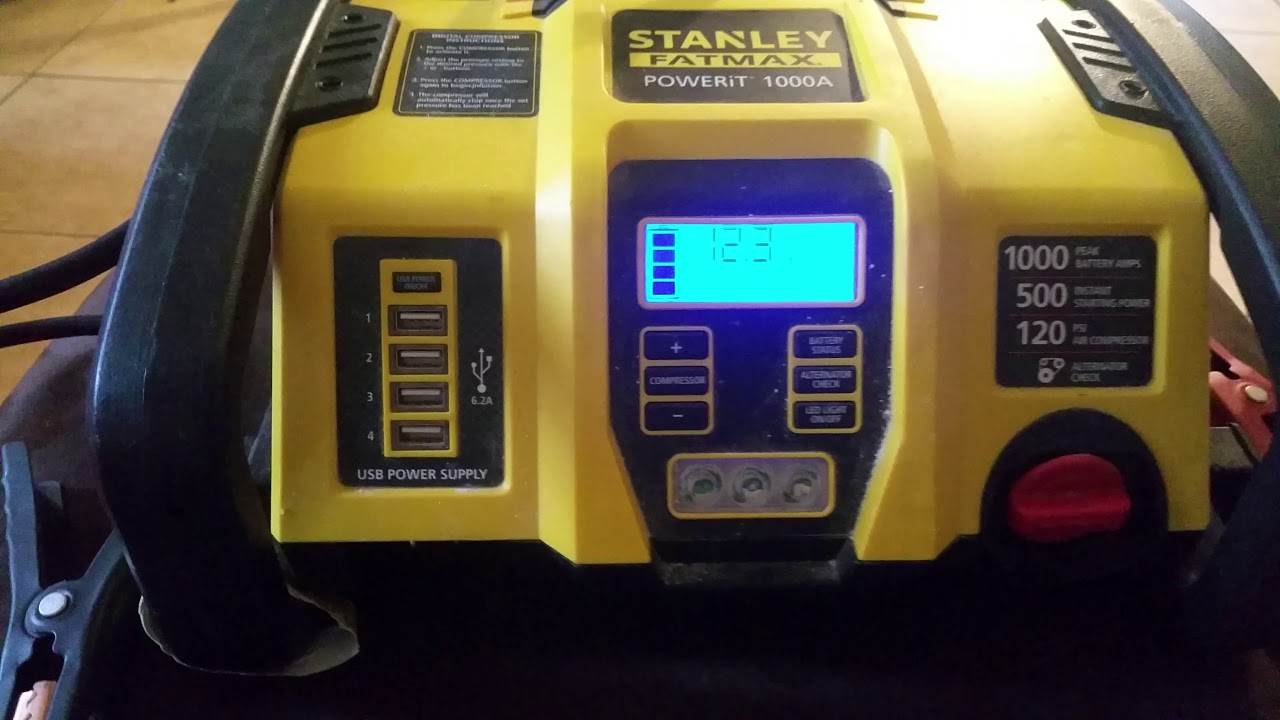 Lithium Ion Car Battery >> Stanley FatMax powerit 1000a review - YouTube