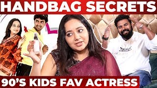Kadhalikka Neramillai Actress Chandra Handbag Secrets Revealed by VJ Ashiq|Whats Inside the Handbag?
