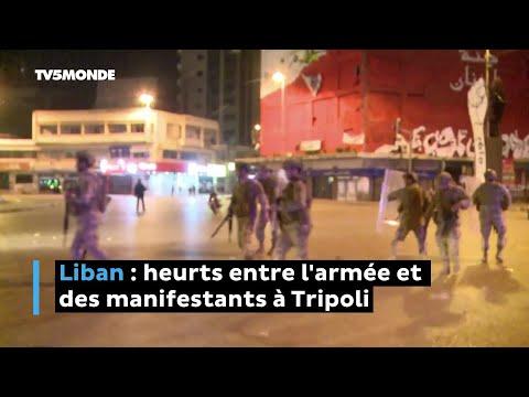 Liban : heurts entre l'armée et des manifestants à Tripoli
