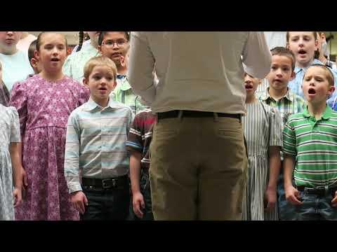 Away in a Manger Jonestown Mennonite School 2018-2019 Christmas Carols Singing Hymns At Mall