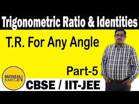 Trigonometric Ratio & Identities | PART-05 | XI-IIT JEE.