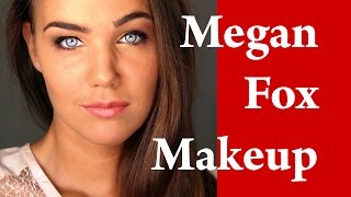 MEGAN FOX makeup tutorial makeover transformation with CONTOURING EYEBROWS and EYELINER Thumbnail