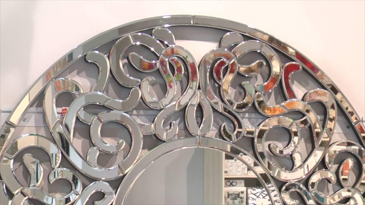Okrągłe Lustro Dekoracyjne W Ażurowej Ramie Altea