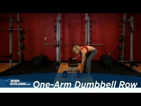 One-Arm Dumbbell Row Back Exercise Bodybuilding.com
