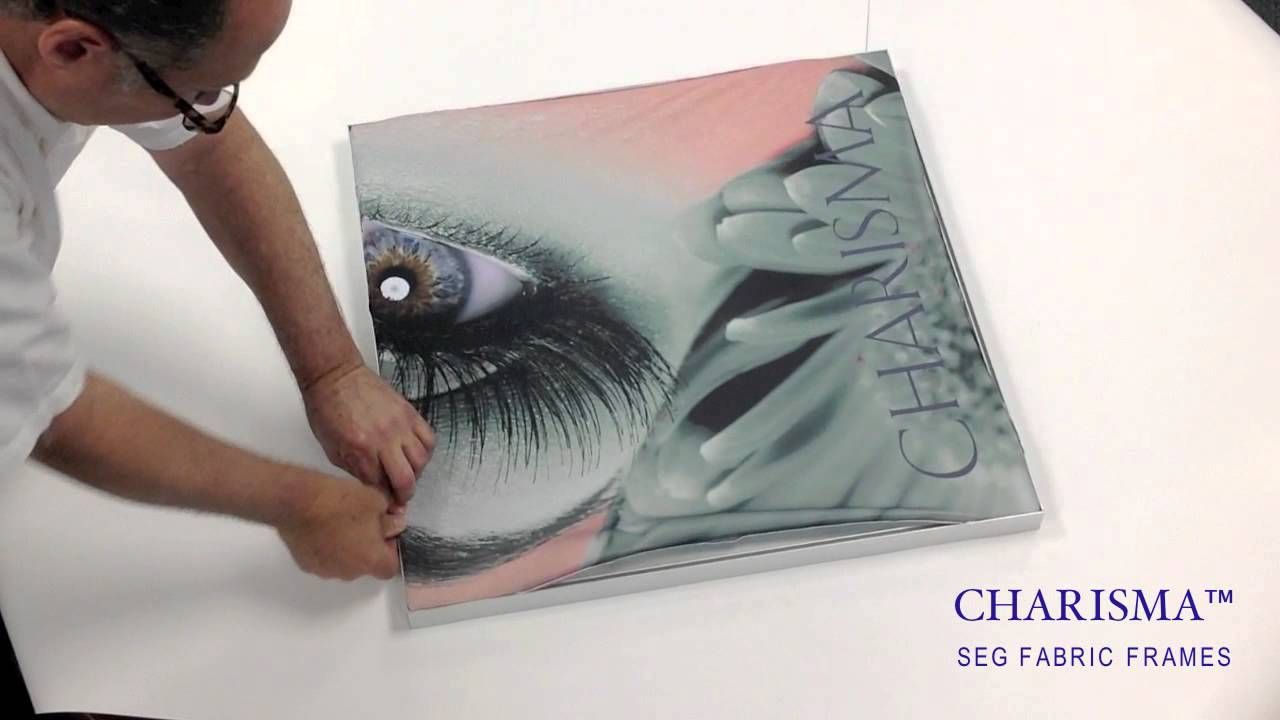 Charisma SEG Fabric Frame Graphic Insertion