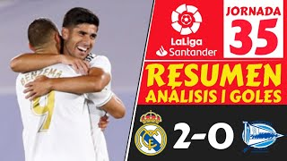 Resumen REAL MADRID vs ALAVES 2-0 [Highlights GOLES jornada 35] Resultados LIGA ESPAÑOLA hoy 2020 🔥