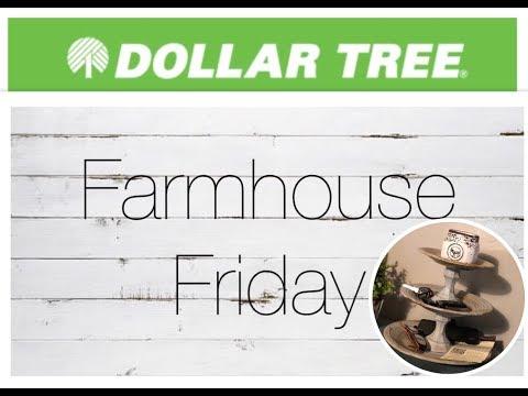 Farmhouse Friday 3 tiered stand//DIY Dollar Tree Farmhouse decor