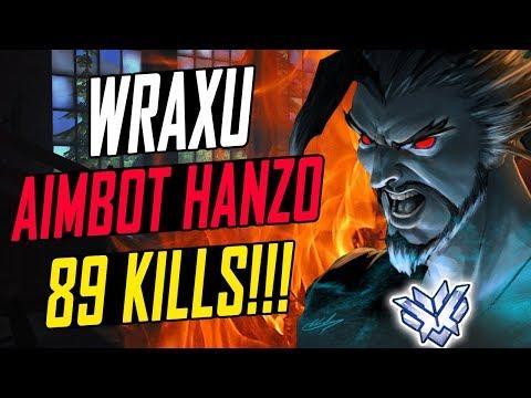 89 KILLS! WRAXU  SOLO CARRY HANZO! HE'S INSANE!  OVERWATCH SEASON 6 TOP 500