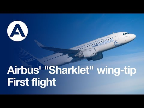 A milestone first flight for Airbus Sharklets