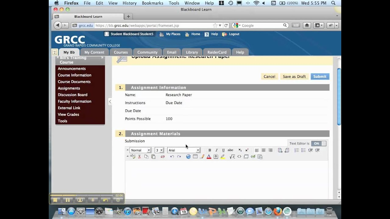 Collect Assignments Through Blackboard   Blackboard Help