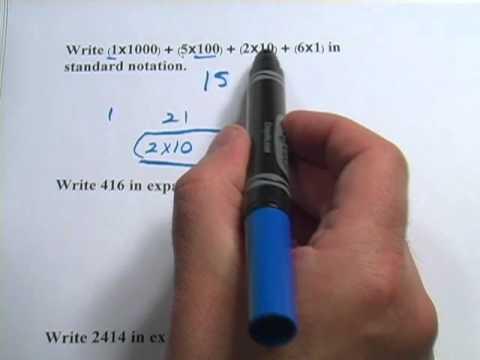 Basic Math Expanded Notation Youtube