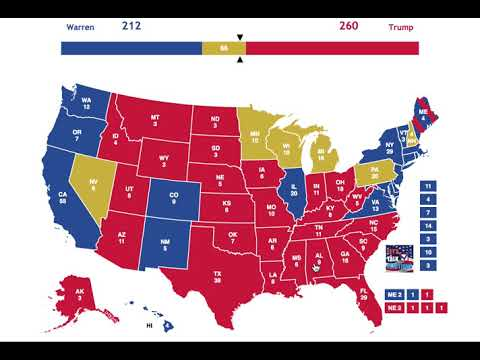 2020 Election Prediction | Elizabeth Warren vs Donald Trump | August 25th, 2018
