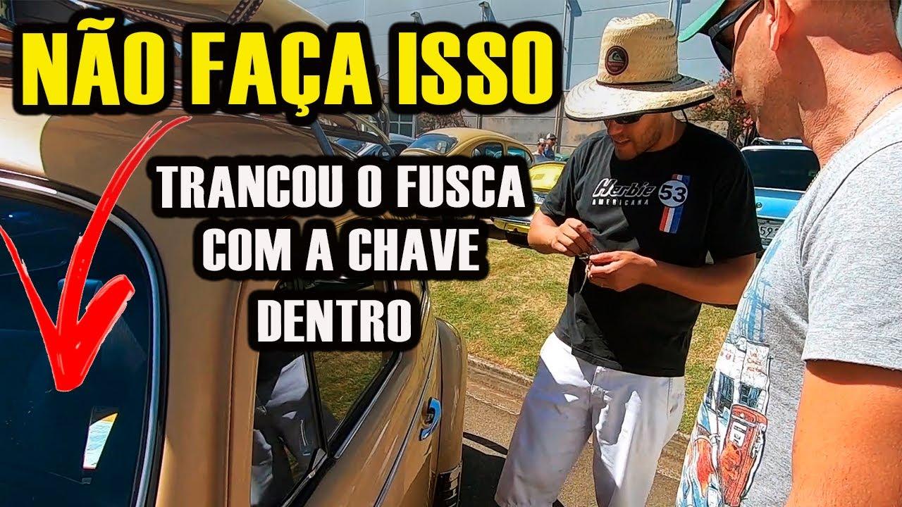 TRANCOU O FUSCA COM A CHAVE DENTRO - ENCONTRO MENSAL DE CARROS ANTIGOS PAULÍNIA/SP