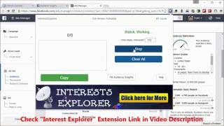 Discover Unlimited High Converting Hidden Facebook Interests list - Facebook Interest Targeting Tool