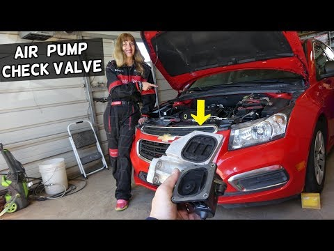 SECONDARY AIR INJECTION CHECK VALVE REPLACEMENT LOCATION CHEVROLET CRUZE, SONIC
