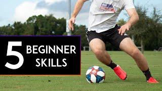5 MOST BASIC SOCCER/FOOTBALL SKILLS for BEGINNERS