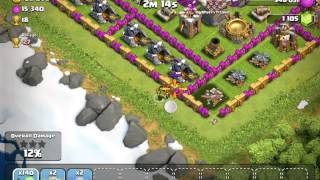 Clash of clans attack with 220 lvl5 Goblins!