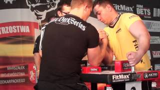 Polish National Armwrestling Championships 2011 - Kamil Jablonski & Kazimerczak Artur