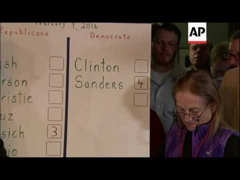 Results declared in first New Hampshire contest
