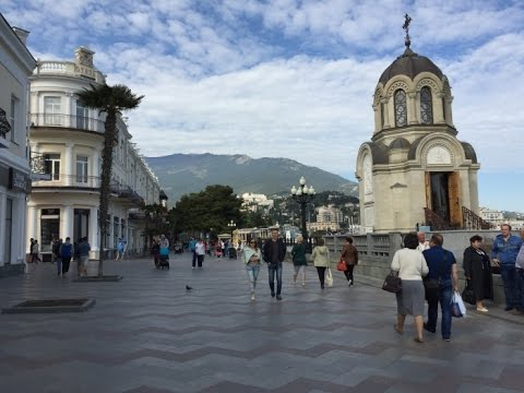 The reality of the situation in Yalta, Crimea, RUSSIA 2016. Крым, Ялта в мае 2016
