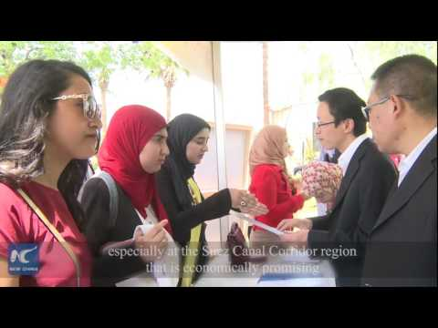 China business job fair attracts Egypt university students