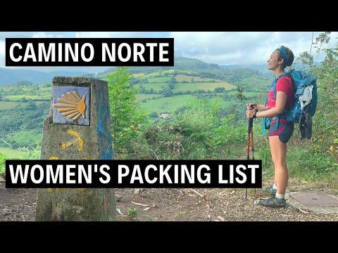 Women's Camino de Santiago Packing List: Camino Norte Summer   ULTRALIGHT