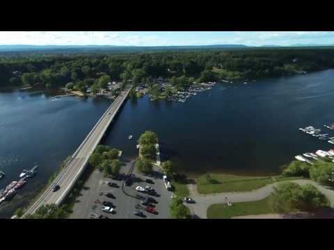 Drone on Saratoga Lake