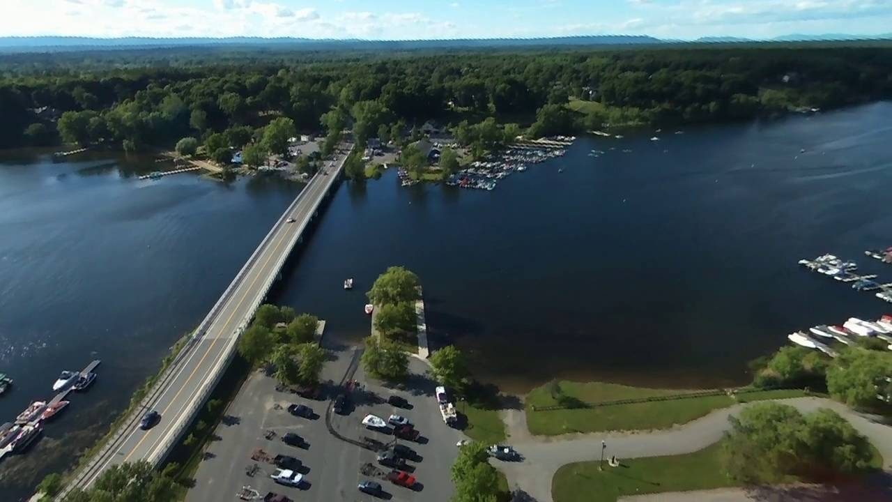 Drone on Saratoga Lake - YouTube