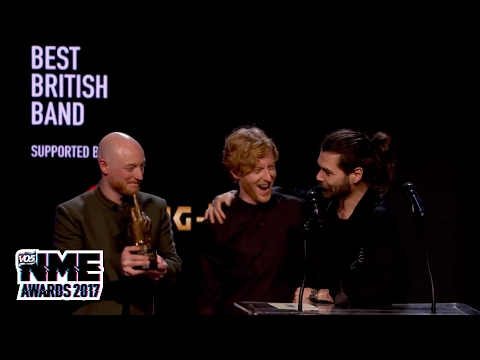 Biffy Clyro win Best British Band at the VO5 NME Awards 2017
