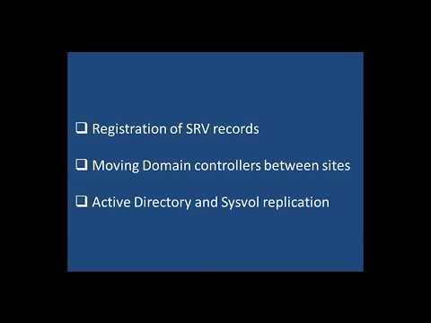 Managing SRV records and moving objects between sites - Etechtraining.com
