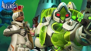 PROTECT THE QUEEN!? l OVERWATCH CUSTOM GAMES!