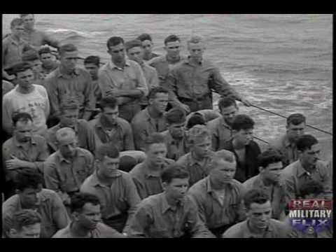 SILENT WWII film, USS BIRMINGHAM TAKES ON AMMUNITION; BOMBAR