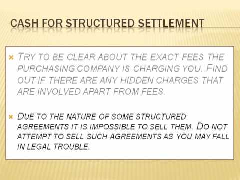 Factors to consider before entering agreement of Cash for Structured Settlement