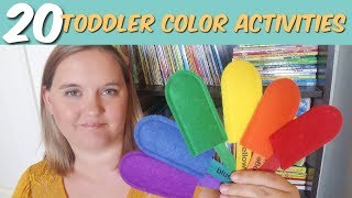 20 Toddler Color Activities