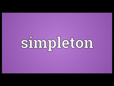 Simpleton Meaning