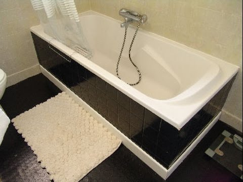 Peinture carrelage 50 photos avant apr s youtube - Deco toilette noir et blanc ...