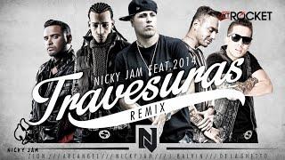 Download Travesuras Remix - Nicky Jam Ft De La Ghetto, J balvin, Zion y Arcangel | Video Lyric